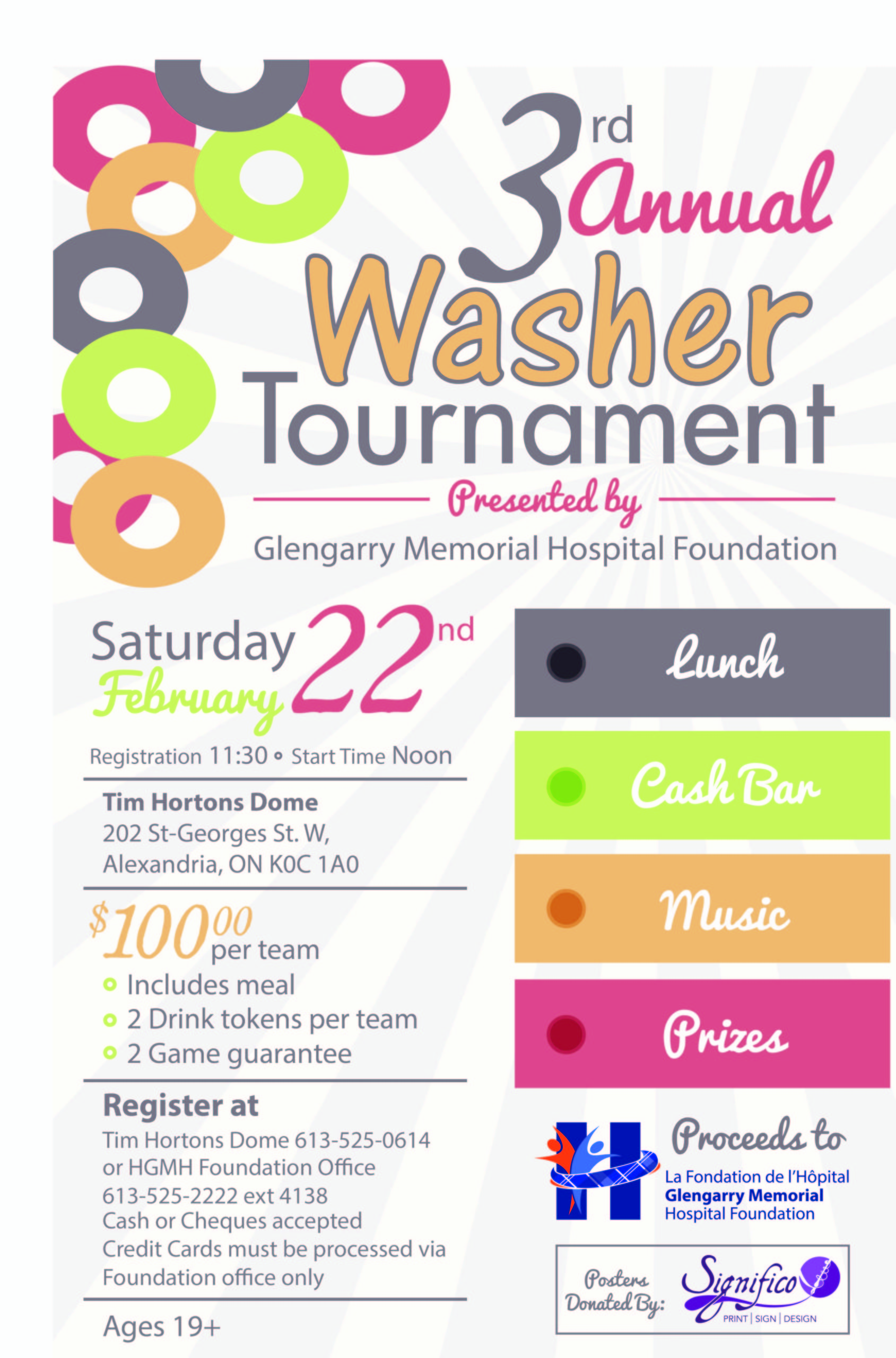 3rd annual washer tournament